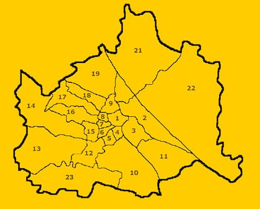 Виена квартали